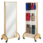 Clinton Mobile Adult Mirror with Cuff Weight Rack