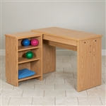 Clinton Hand Therapy Table With Shelf Unit