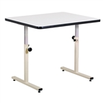 Clinton Personal Work Table with Stationary Top
