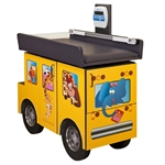 Clinton Pediatric Scale Table Zoo Bus with Jungle Friends