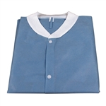 Lab Coat w/o Pockets with SMS; Dark Blue (30 per box)