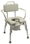 Platinum Collection Deluxe Padded Commode Bath Seat with Arms