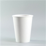 12 oz. White Paper Coffee Cups 50 / sleeve