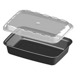 16 oz. Rectangular Plastic Food Container / 12 ct