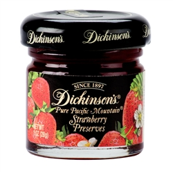 Dickinson's Strawberry Preserves - 1 oz jar - 12 count