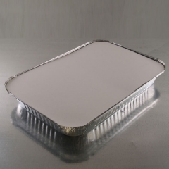 Aluminum Oblong Pan / with Lid / 4 lb capacity / 12 count