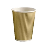 Insulated Ripple-Wrap Paper Coffee Cup-12 oz- 40 count