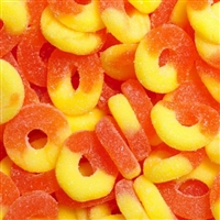 Gummi Peach Rings - 5 LB Bag