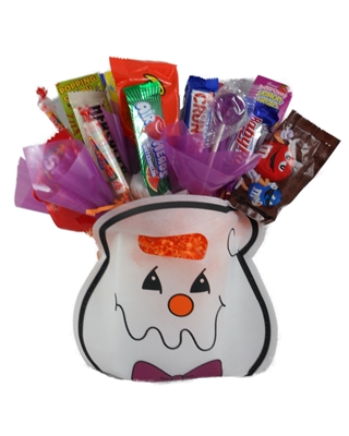 Ghost Bag Holiday Candy Bouquet
