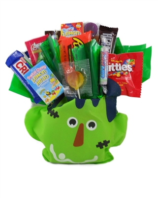 Frankenstein Bag Holiday Candy Bouquet