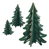 Ginger Cottages 3D Tree Set of 3