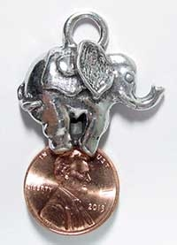 Markie Moose Lucky Elephant Lottery Scratcher