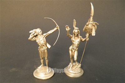 Chilmark Pewter Secondary Market Set of 2 Indians by Don Polland