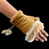 Texting Gloves Faux Fur Camel