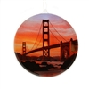 Window Ornament - Golden Gate Bridge at Sunset