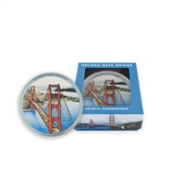 Crystal Paperweight - Golden Gate Bridge Vintage