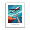 Unframed Poster - DC-2 Soars Over the Golden Gate