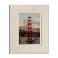 Matted Print - The Bridge and the Headlands