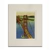 Matted Print - The Bridge and Fort Baker