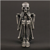 Fraid of heights miniature skeleton in silvered bronze by Skelemental at Raven Armoury