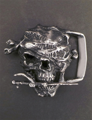 Pirate Skull Buckle