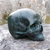 Full size Human Skull in Patinated Bronze.
