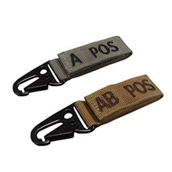 Condor Blood Type Keychain Tag
