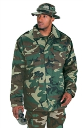 M65 Army Field Coat w/ Liner- Woodland Camo