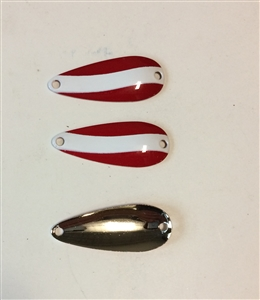 3 Pack of Red/White Nickel back  1/4 oz Spoons