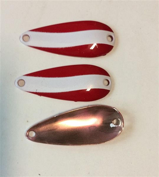 3 Pack of Red/White Copper back  1/4 oz Spoons