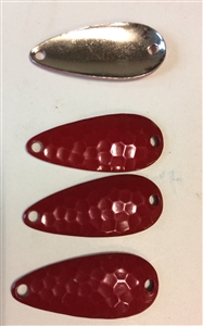 50 Red Hammered spoons