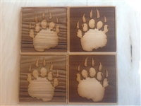 Bear Paw Cedar drink coaster