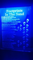 "Edge Lit Led Sign ""Footprints In The Sand"" 18"" x 24"""