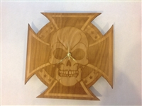 Skull and cross clock