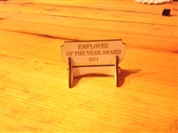 """EMPLOYEE OF THE YEAR AWARD"" Miniature Desktop Sign"