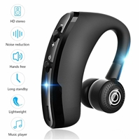 Sporty Bluetooth Earpieces with Microphone and Music 918M Black