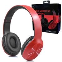 Over-the-head Stereo Bluetooth Headset S217 Red