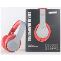 Over-the-head Stereo Bluetooth Headset S228 in Red