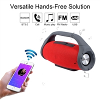 Portable Bluetooth Speaker with handle Loud Sound Heavy Bass Outdoor - Red