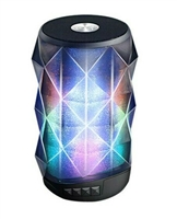 Super Power Portable Bluetooth Speaker with Magic changing colorful lights in Black
