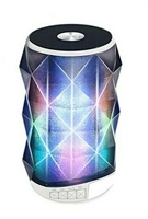 Super Power Portable Bluetooth Speaker with Magic changing colorful lights in White