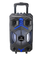 Portable Powerful LED Microphone Party Trolley BT Speaker T8102