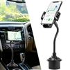 High Quality Universal Car Mount Cup Holder for Phones Adjustable 360° Swing Cradle in Black CH-CM25