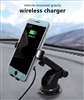 2 in 1 Fast Wireless Charger with 10W and Gravity Vehicle Mounted Holder in Black
