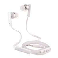 T80V Super Bass Stereo Hands Free with Volume Control White