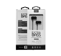 Universal 3.5mm Stereo Hands Free w/Extra Bass 800ST Black