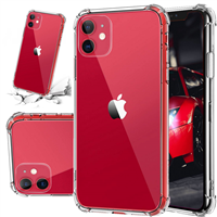 "For Apple iPhone 11 (6.1"") Shockproof Clear Case Cover"