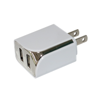 Fast 3.1A Home Charger Adapter with Dual USB ports in White