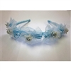 Floral Headband - Pale Blue