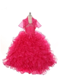 Paris Pageant Gown - FUCHSIA